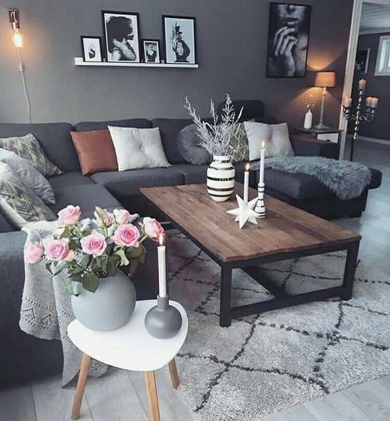 Best 25 Grey Sofa Decor Ideas On Pinterest Living Room This Month