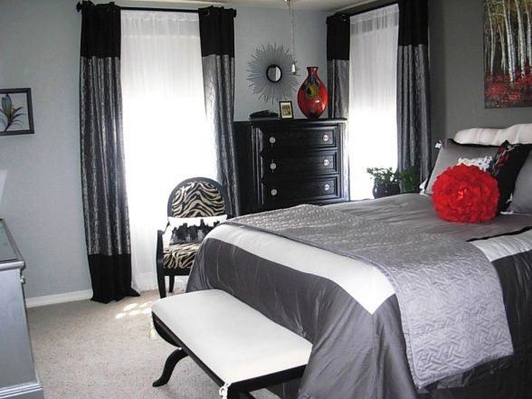 Best 25 Grey Red Bedrooms Ideas On Pinterest Red This Month