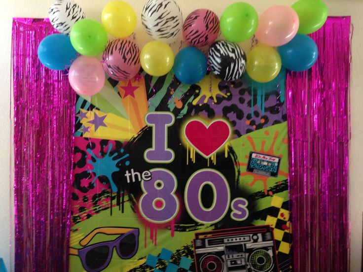 Best My 80 S Party Decorations Photo Booth Wall 80 S Party This Month