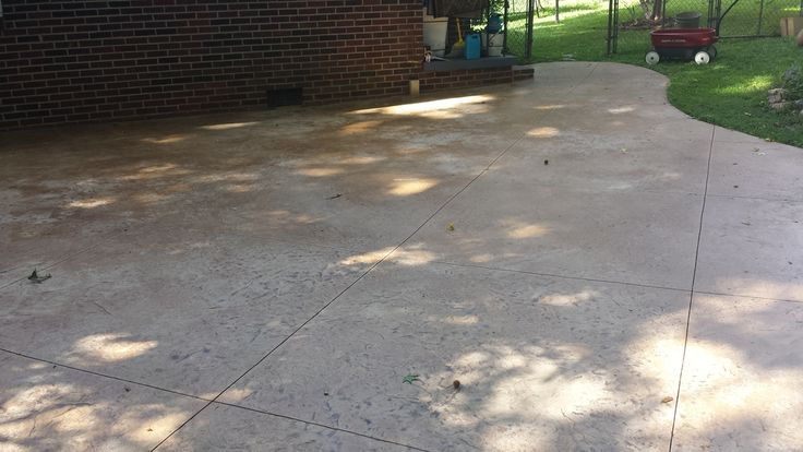 Best Old Stamped Concrete Before Recolor All American This Month