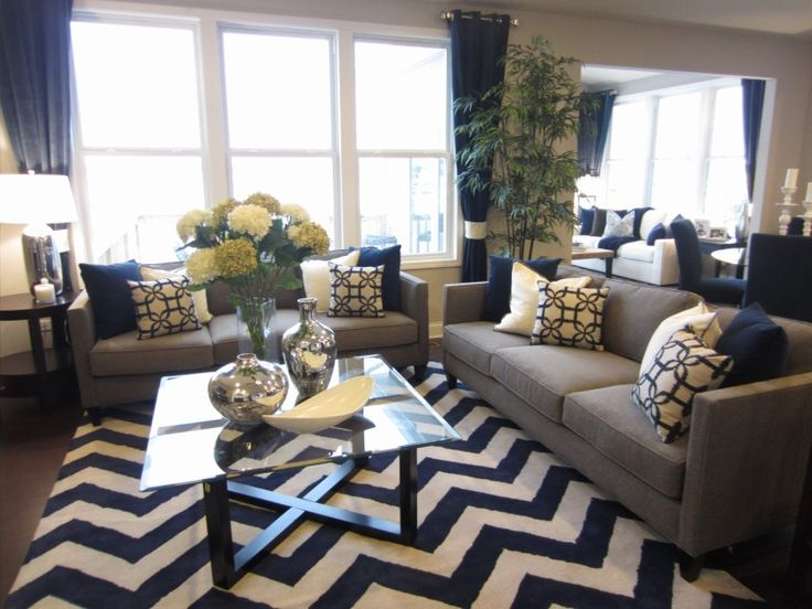 Best 25 Navy Blue And Grey Living Room Ideas On Pinterest This Month