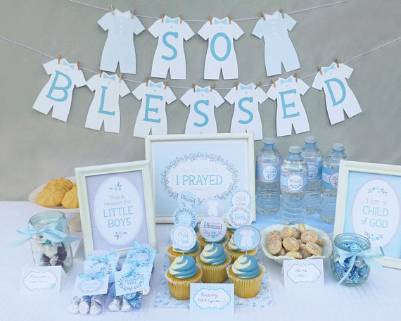 Best Lds Baby Boy Blessing Party Printable Set Or Christening This Month