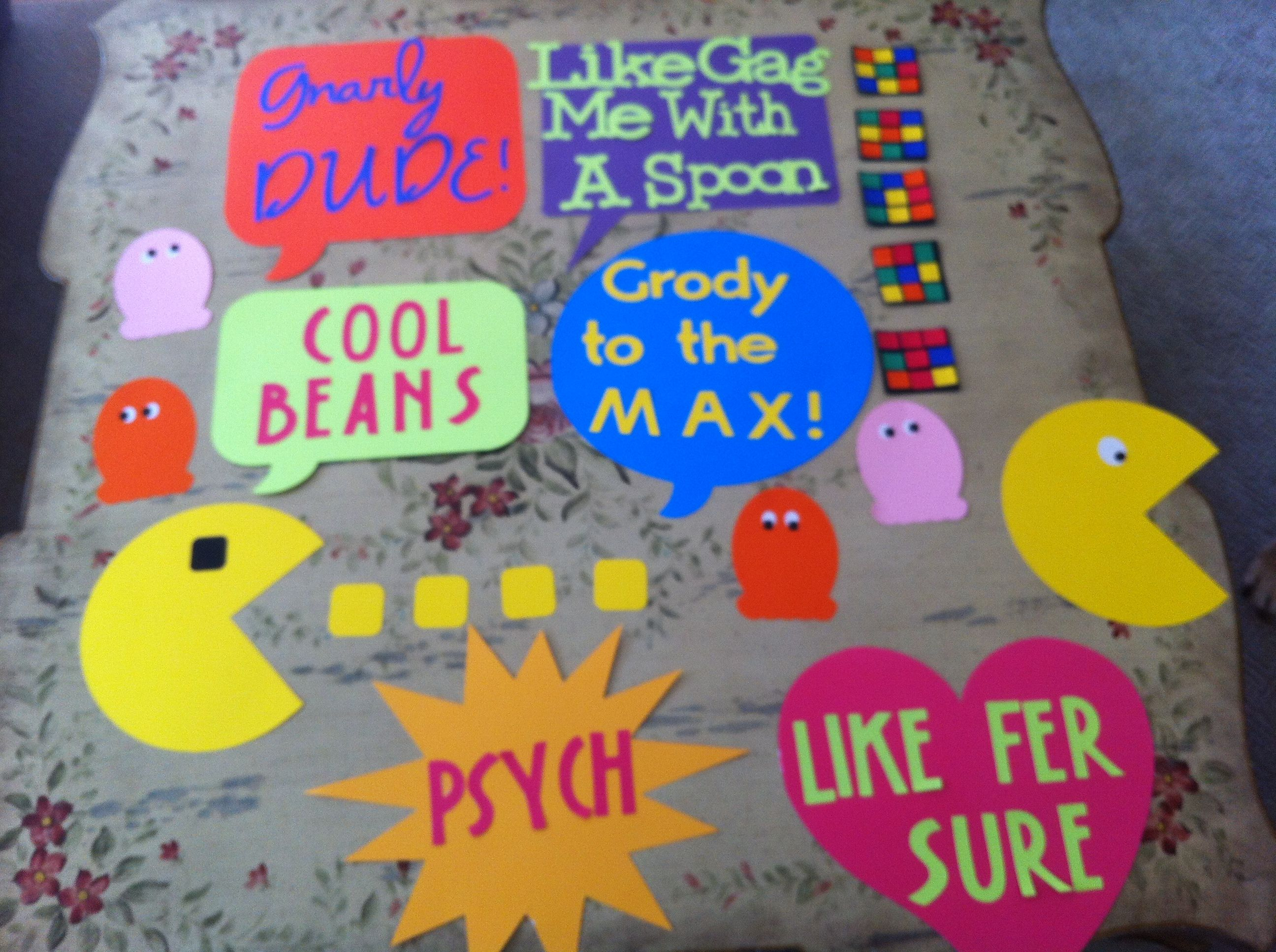 Best 80 S Party Decorations With My Cricut Love It Cricut This Month