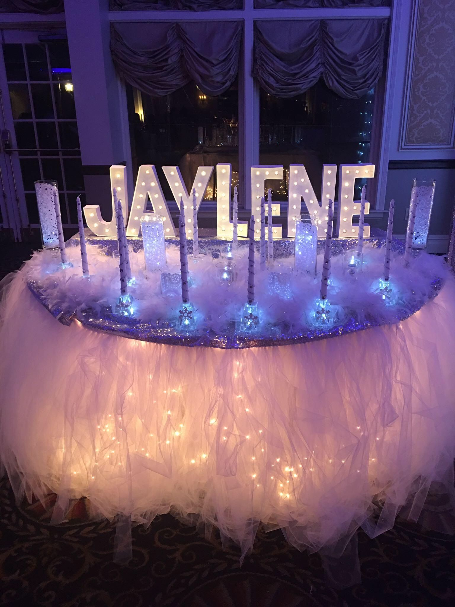 Best Candle Ceremony Set Up Winter Wonderland Sweet 16 This Month