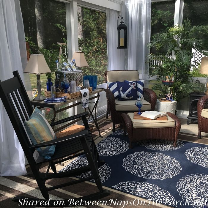 Best Nautical Decor Tablescape For A 3 Season Porch Sunroom This Month