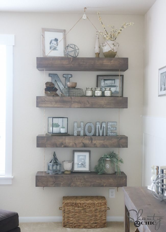 Best Diy Floating Shelves With Pulleys For The Home This Month