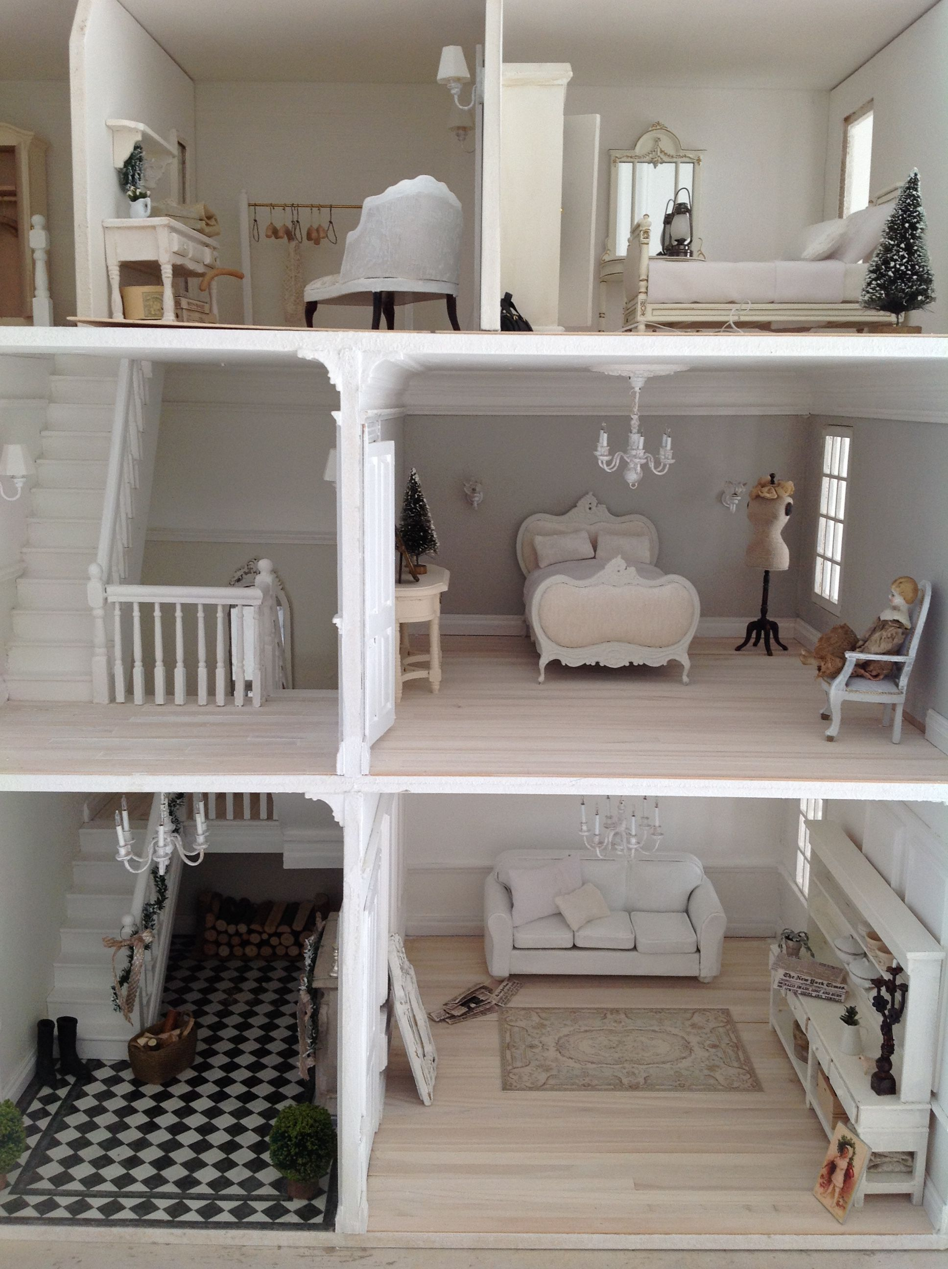Best Beautiful White Creative House Elm Tree Cottage Dolls This Month