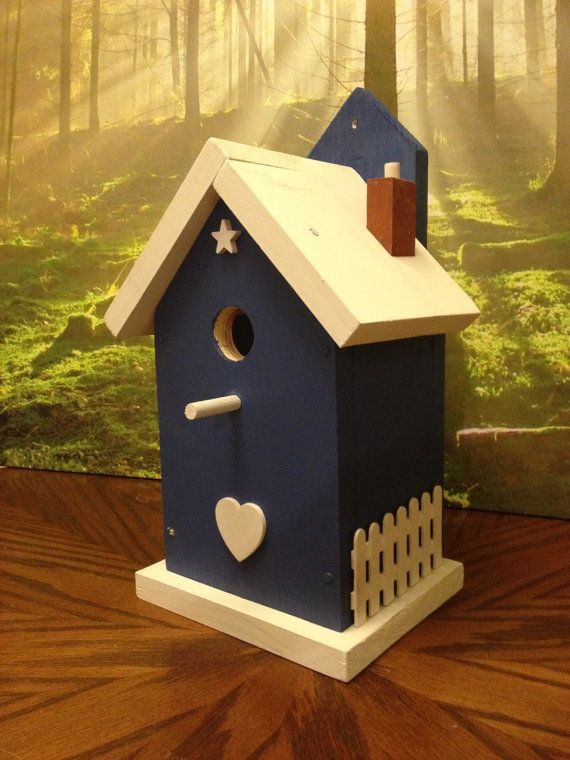 Best Blue Bird House Diy Painted Wood Birdhouses This Month