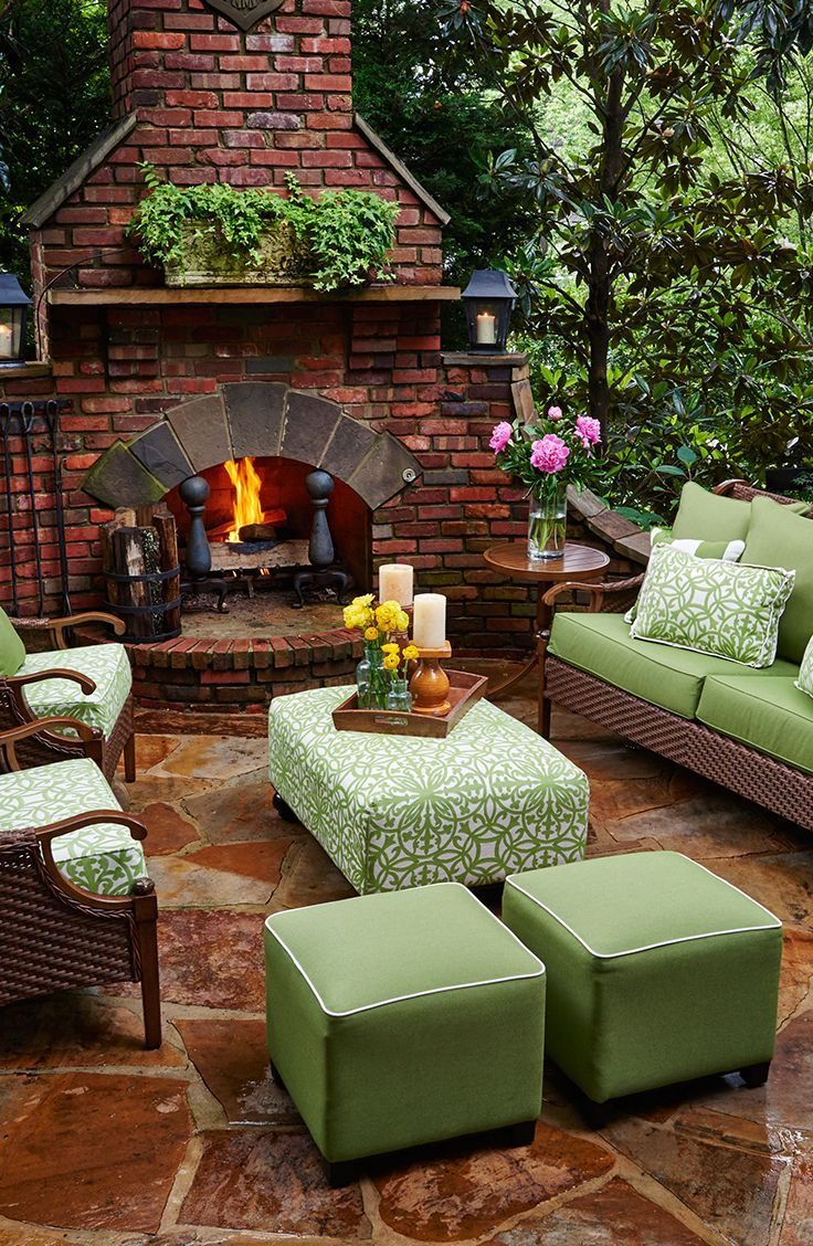 Best Cozy Outdoor Space Ottomans And Poufs Are A Great Way This Month