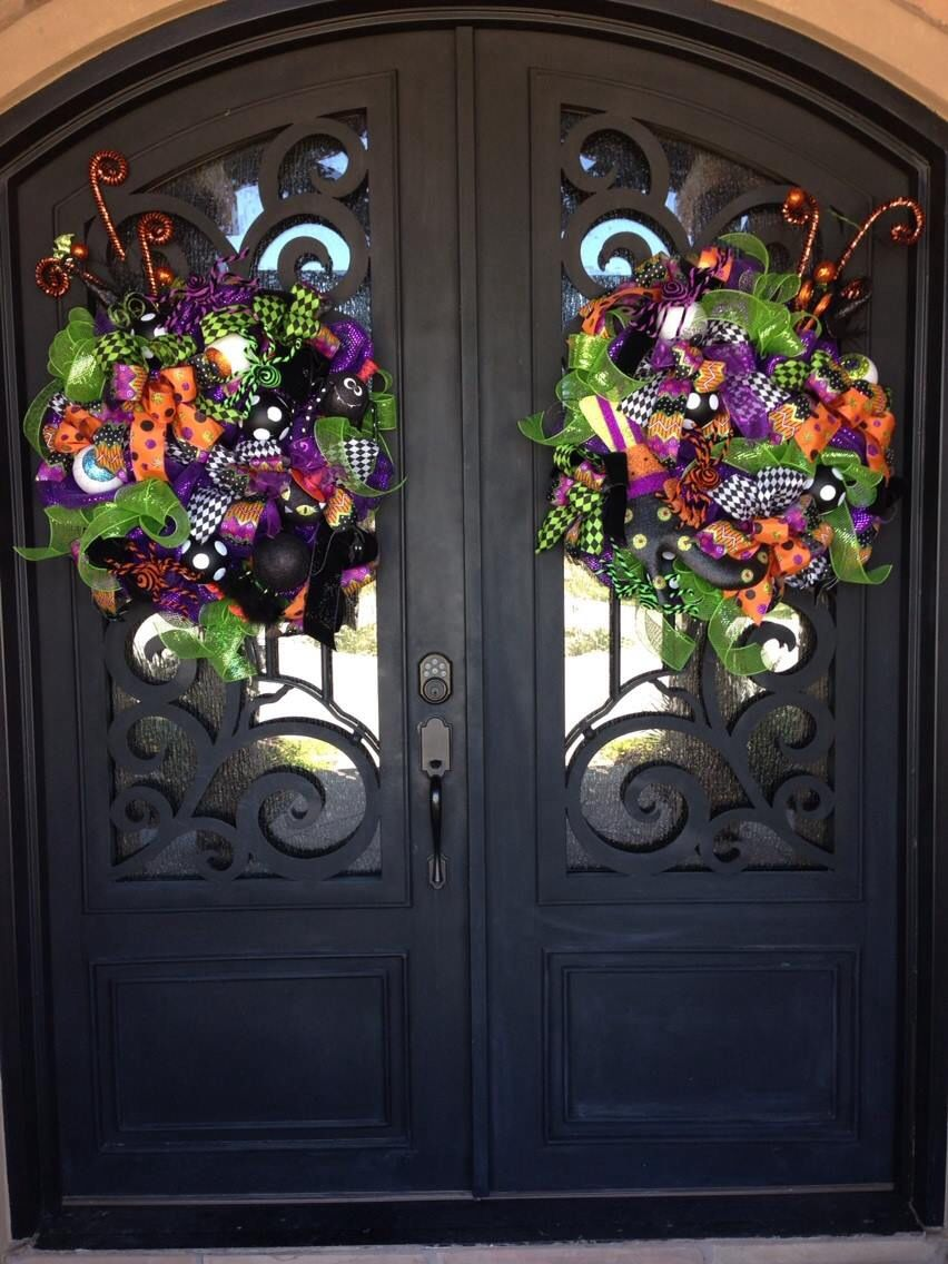 Best Matching Halloween Wreaths For Double Doors Halloween This Month