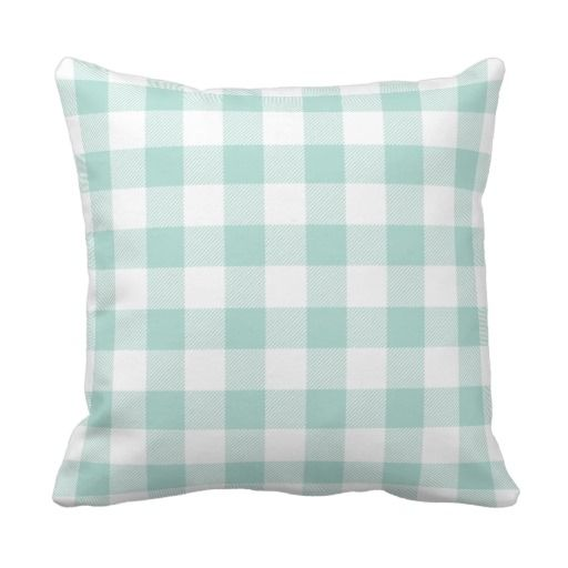 Best Mint Preppy Buffalo Check Plaid Throw Pillow Zazzle Com This Month