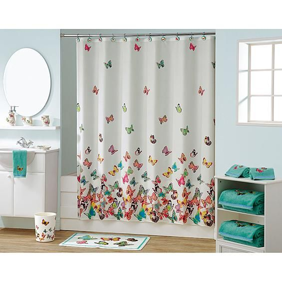 Best Butterfly Bathroom Decor From Kmart Curtain Is 15 Gram This Month