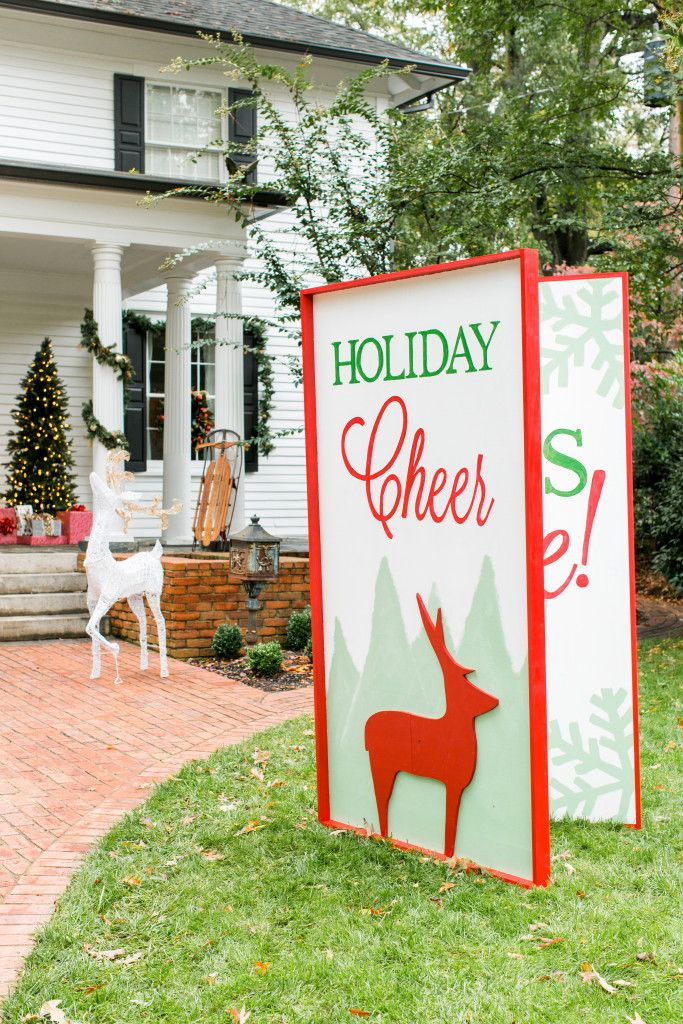 Best Giant Greeting Card Yard Decoration For Christmas This Month