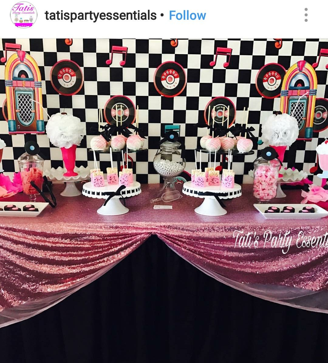 Best 1950 Birthday Party Dessert Table And Decor 1950 Rock This Month