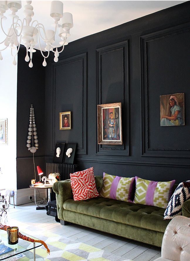 Best 28 Ideas For Black Wall Interiors How To Style Them Millwork Mouldings Black Walls This Month
