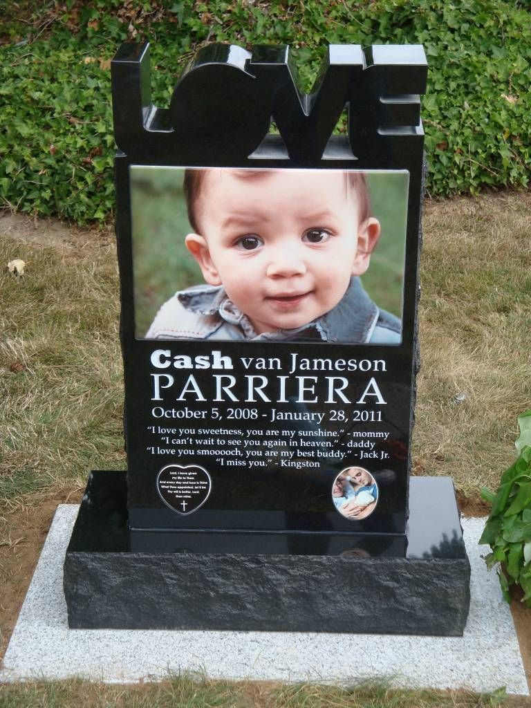 Best Custom Modern Headstone Design With Huge Ceramic Picture This Month