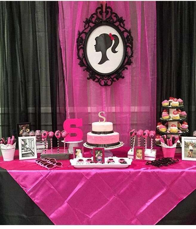 Best Retro Barbie Birthday Party Dessert Table See More Party This Month