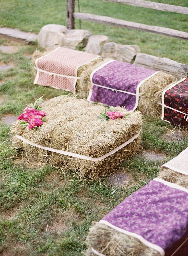 Best Hay Bale Seating For A Future Wedding Tipi Wedding This Month