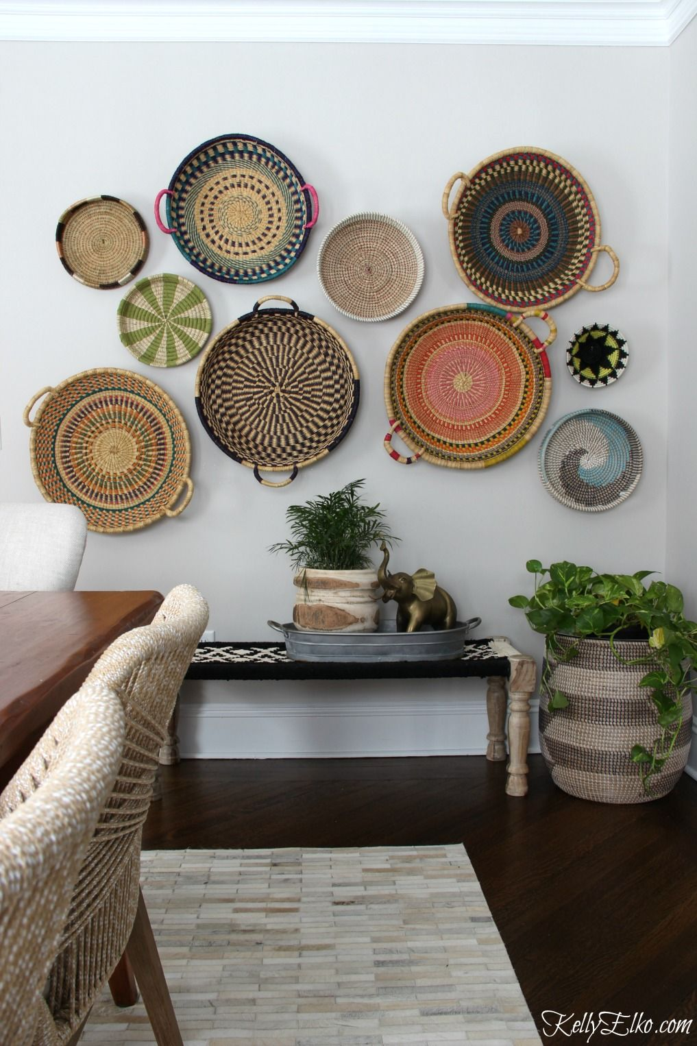 Best Colorful Basket Gallery Wall Beautiful Baskets Home This Month