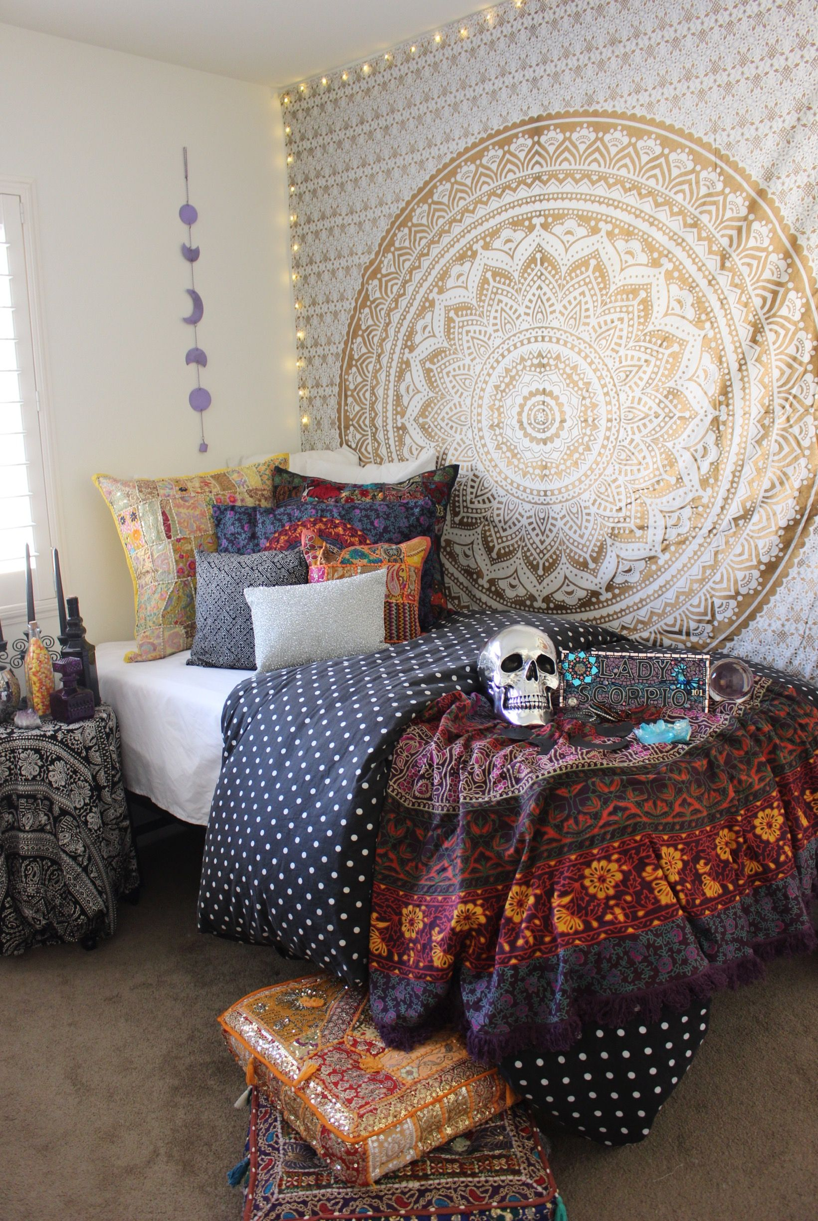 Best Halloween Theme ☾ Gold Bedroom From Lady Scorpio This Month