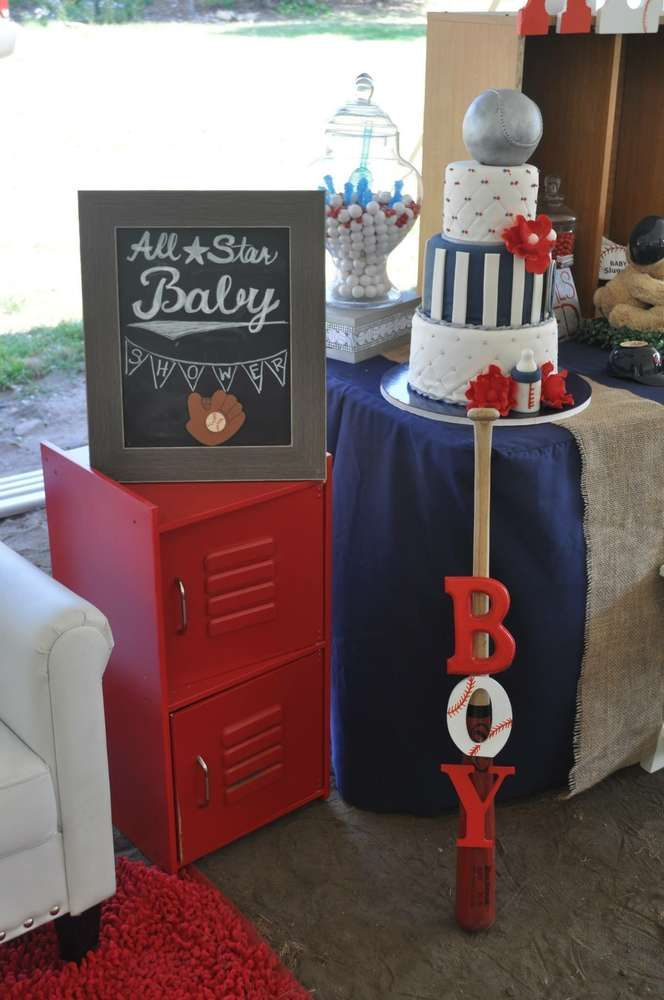 Best All Star Baby Shower Party Ideas Basketball Baseball This Month