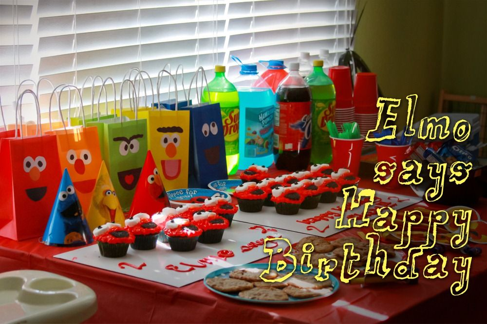 Best Sesame Street Candy Bags Elias 1St Bday Elmo Theme This Month