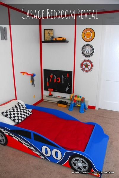 Best Race Car Garage Room Faith Bloggers Create Garage Room This Month