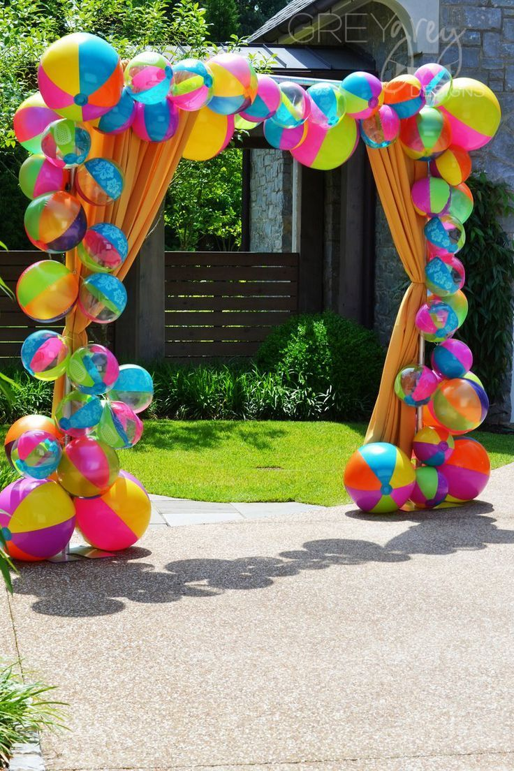 Best Beach Ball Back Drop For Photos Balloons Party Luau This Month