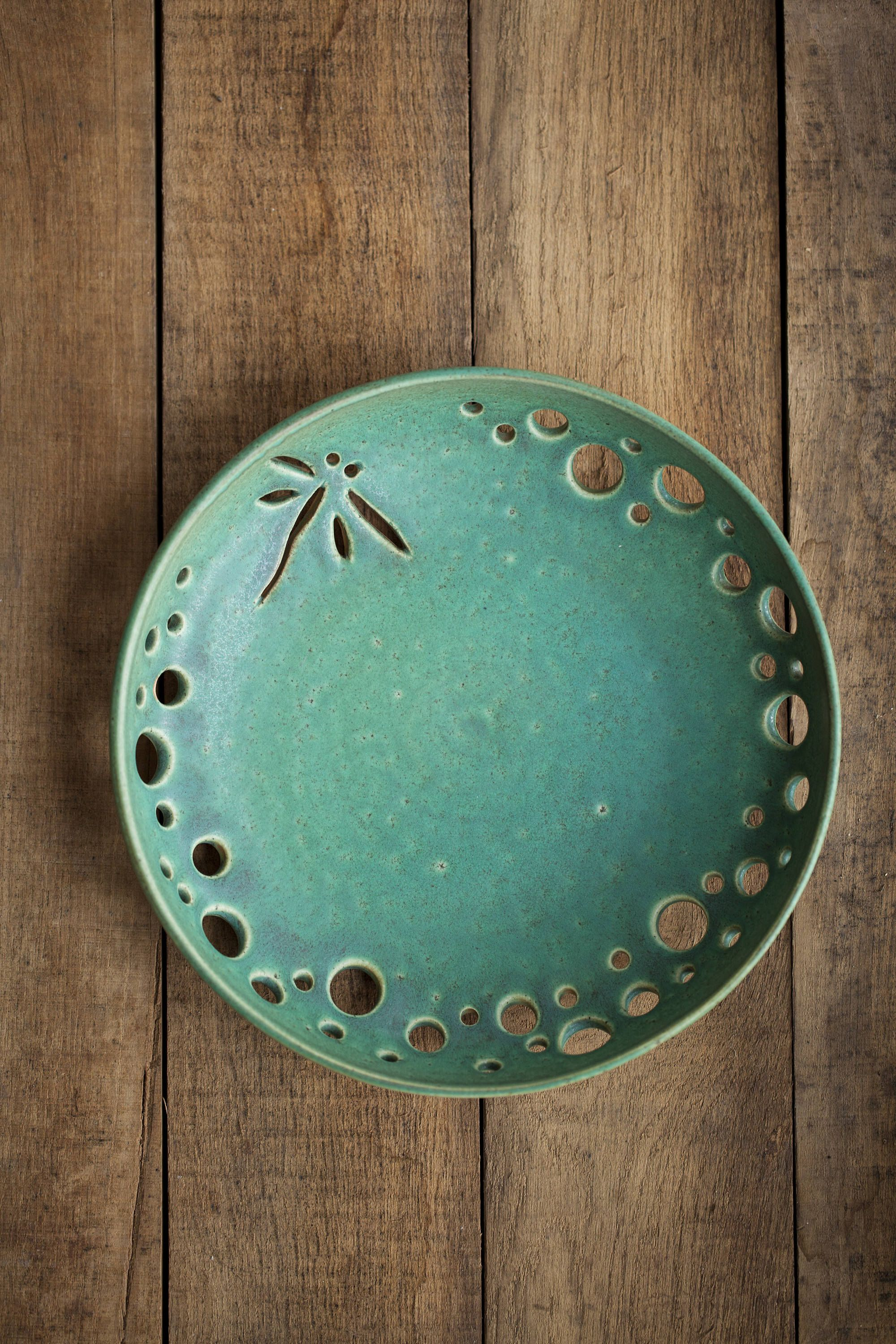 Best Ceramic Plate Dragonfly Decorative Pottery Fruit Bowl This Month