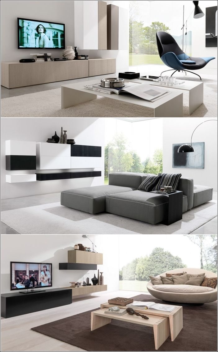 Best Contemporary Wall Units From Euromobil Interiors This Month