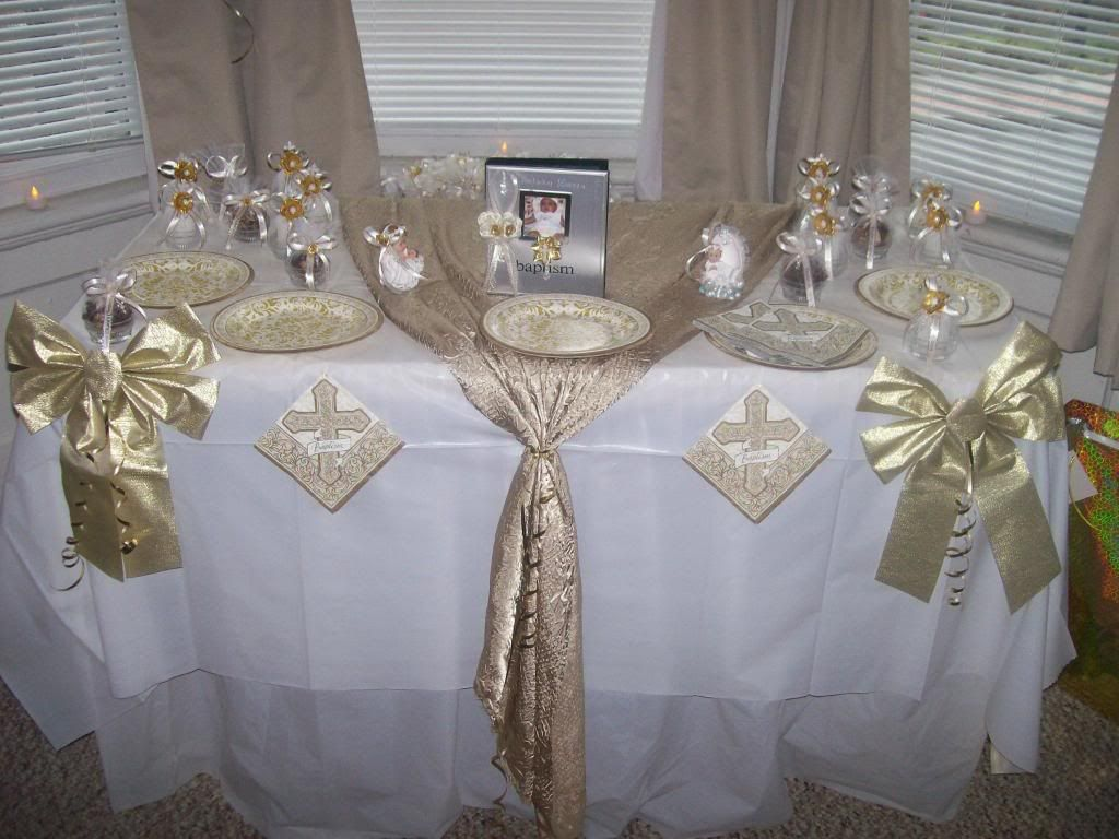 Best Christening Table Decorations Pic 13 Baby Girl This Month