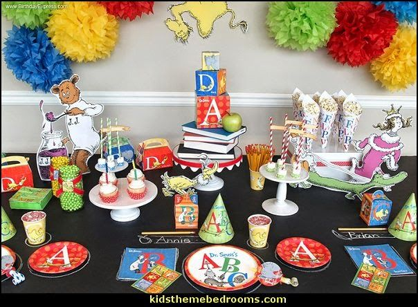 Best Dr Seuss Abc Party Packs Abs 123 Birthday Theme Abc This Month