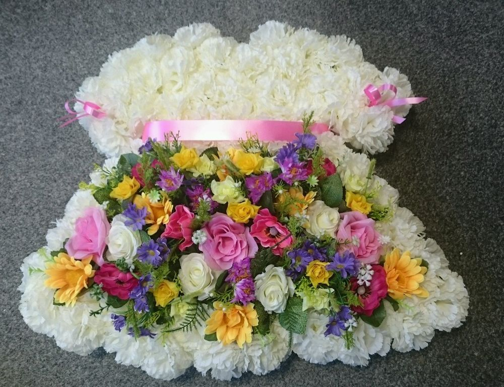 Best Baby Girl S Dress Wreath Artificial Silk Flower Funeral This Month