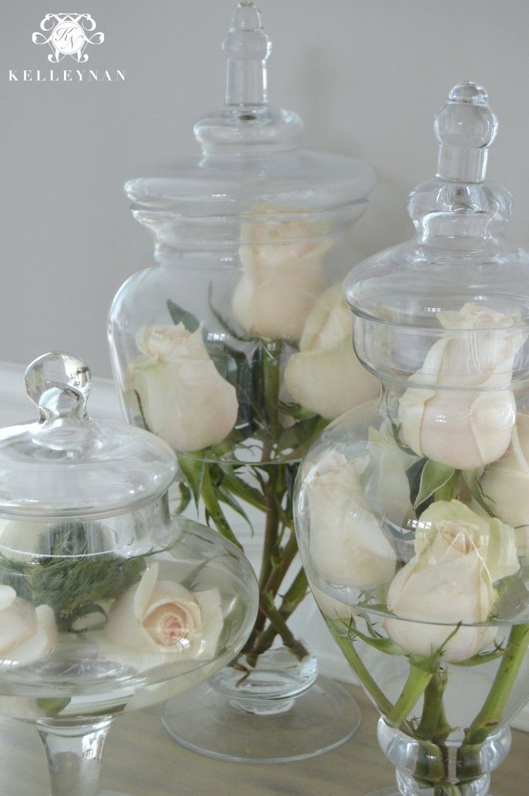 Best Flowers In Apothecary Jars House And Home In 2019 This Month