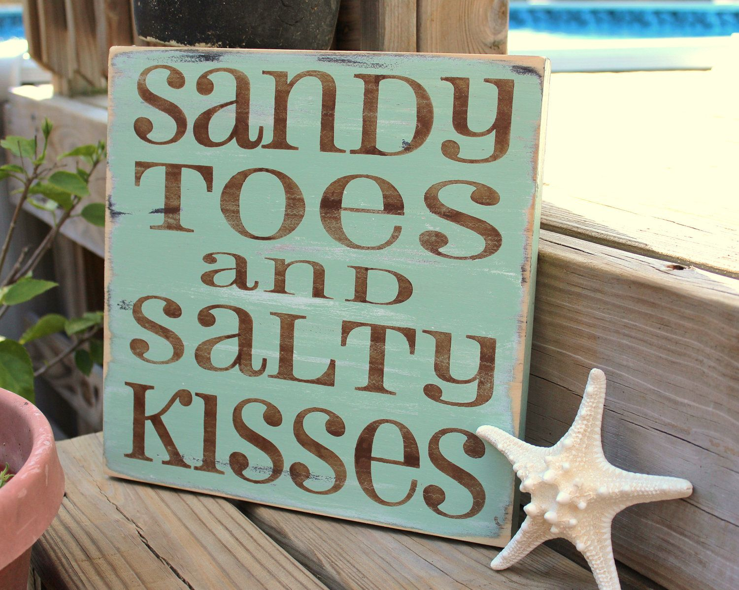 Best Beach Sign Sandy Toes Salty Kisses Coastal Beach House This Month