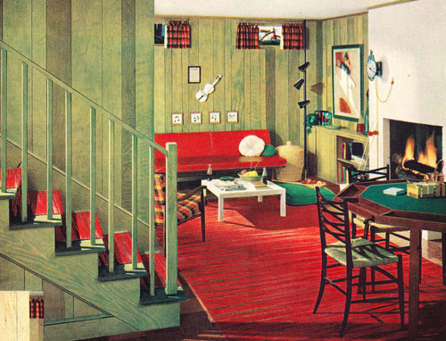 Best 1950S Interior Design Illustration The Color And Lines This Month