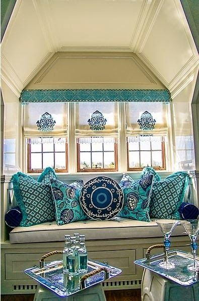 Best Colorful Window Seat With Embroidered Shades Home Channel This Month