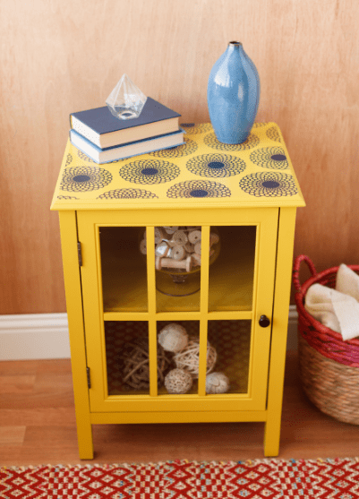 Best Embellish A Side Table With The New Cricut Vinyl Home This Month