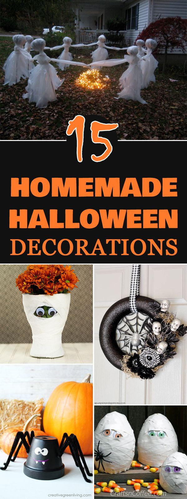 "Best Diytotry "" 15 Easy Homemade Halloween Decorations This Month"