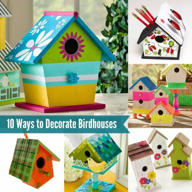 Best 10 Fun Ways To Decorate Wood Birdhouses Mod Podge Rocks This Month
