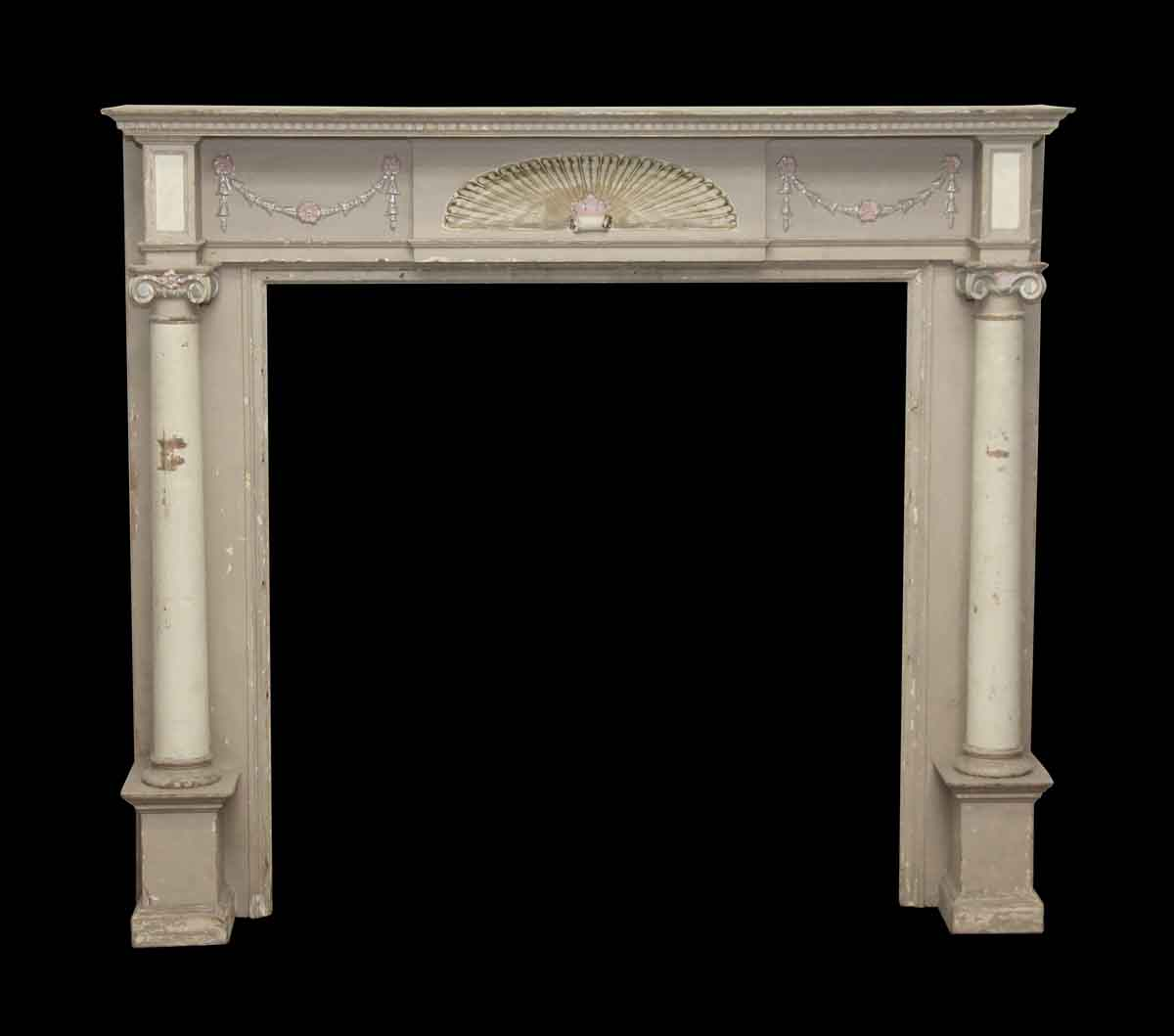 Best Decorative Wooden Mantel With Fan Detail Ionic Columns This Month