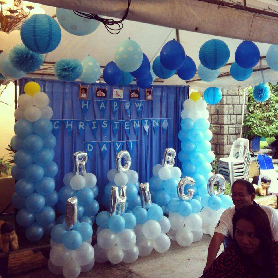 Best Baby Boy Blue Baptism Party Ideas Photo 1 Of 5 Catch This Month