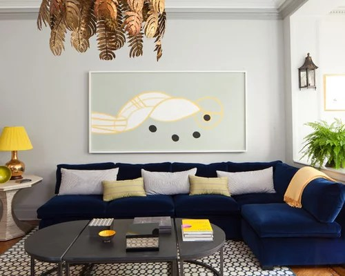 Best Decorating A Blue Couch Houzz This Month