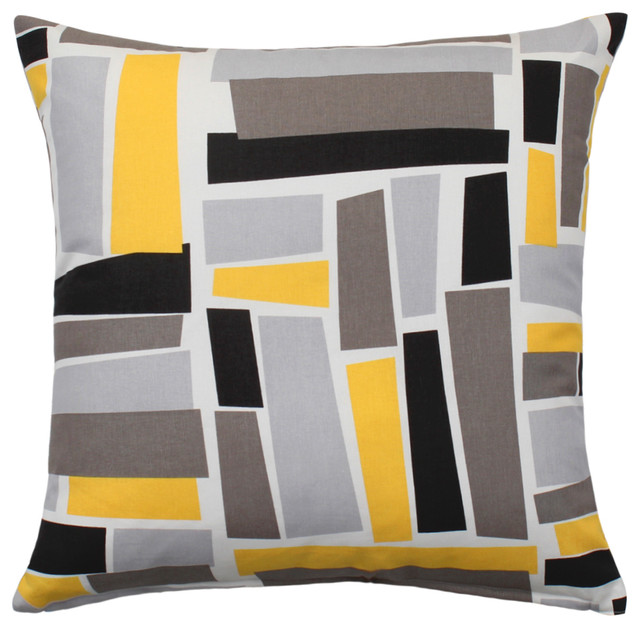 Best Throw Pillow Cover Yellow Gray Black Patterned 20 X20 This Month