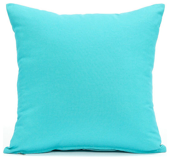 Best Solid Aqua Blue Pillow Cover Contemporary Decorative This Month