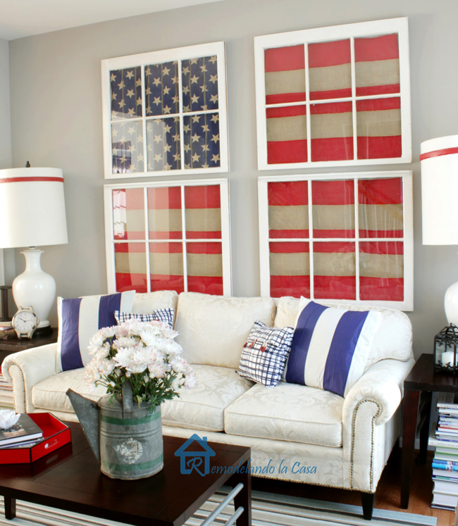 Best Red White And Blue Living Room Remodelando La Casa This Month