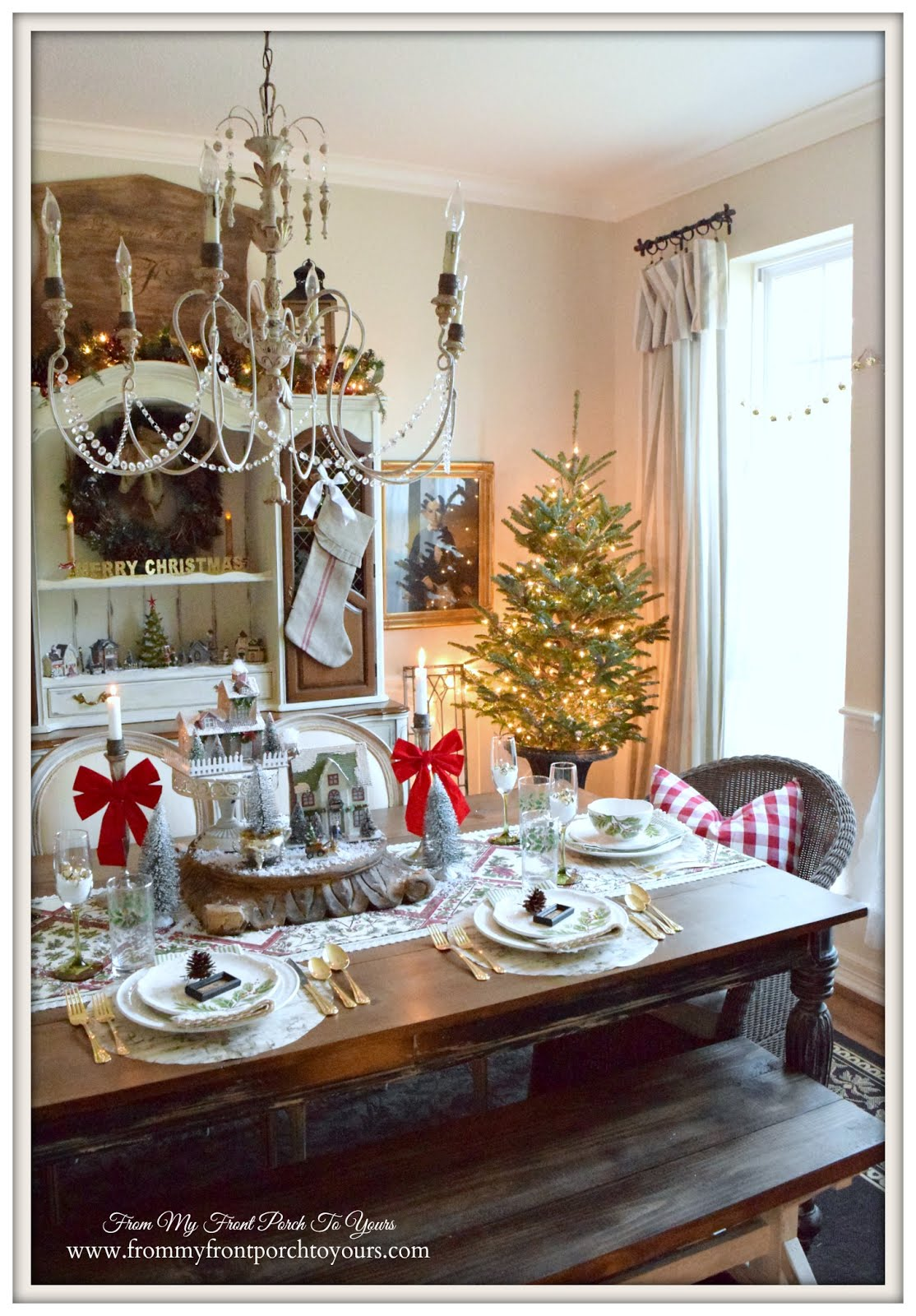 Best From My Front Porch To Yours Farmhouse Christmas Dining Room This Month