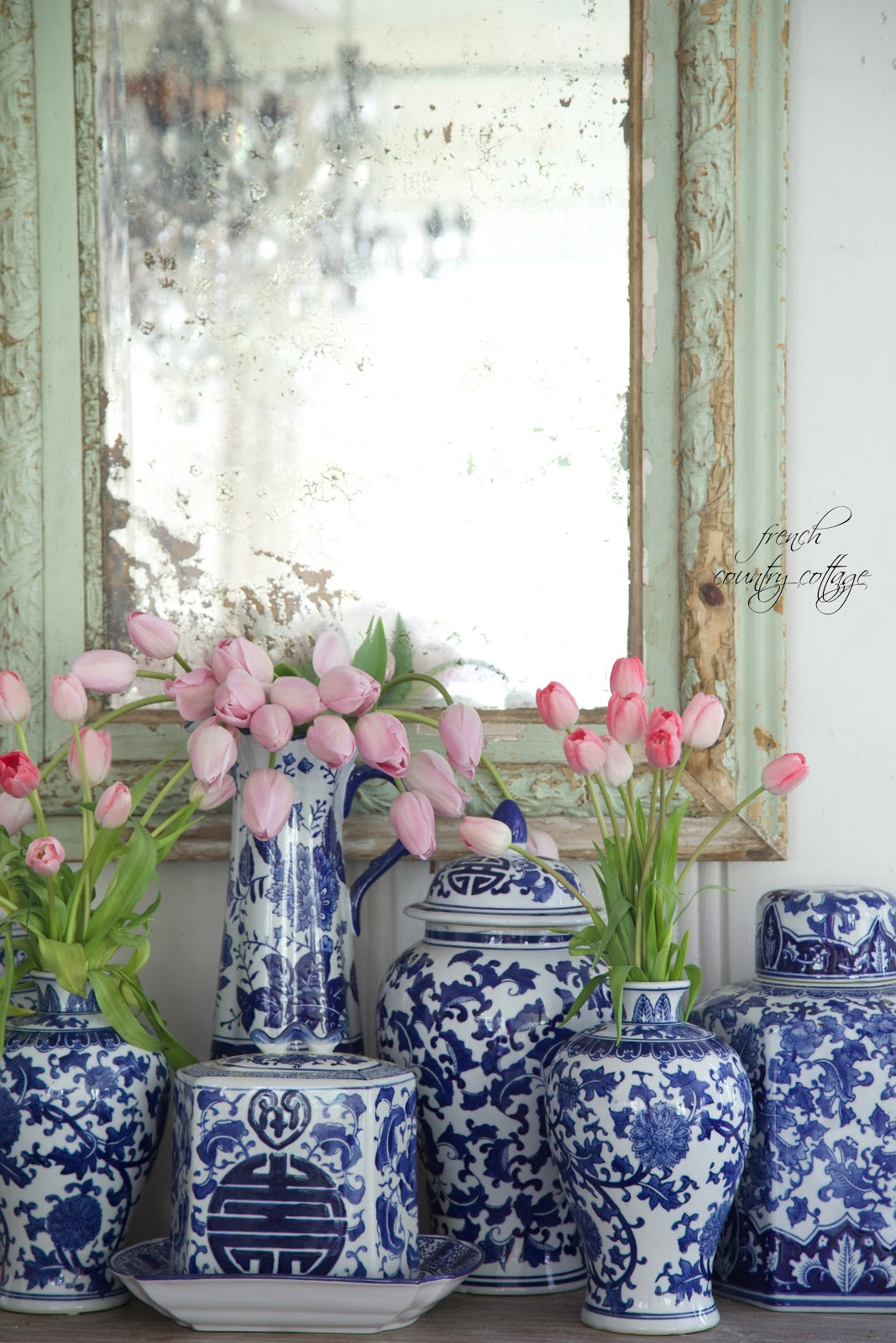 Best Blue White Love French Country Cottage This Month