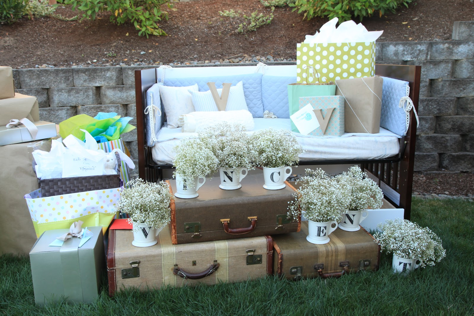Best Vintage Pretty Rustic Outdoor Baby Shower This Month