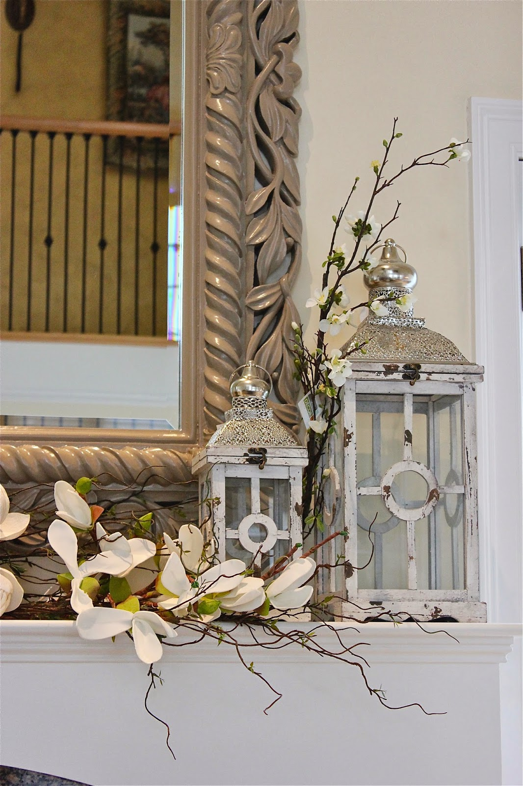 Best Maison Decor Styling A Mantle With Lanterns And Florals This Month
